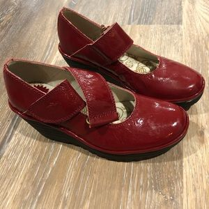FLY LONDON Wedge SIZE 37 6.5-7 US Mary Jane Shoes